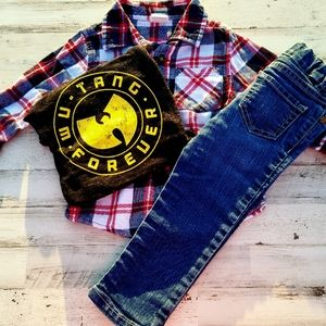 Vintage 90s Bundle with Flannel, Jeans and Wu-Tang